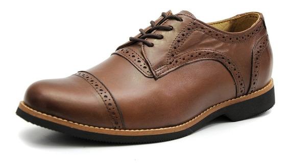 Sapato Masculino Tamanho Especial Luxo Oxford Couro 6815/3
