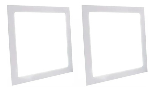 Kit 2 Painel Plafon Led 18w Quadrado Embutir Branco Frio