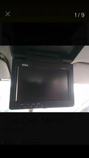 Pantalla Televisor Monitor Para Carro Con Dvd, Marca Boss.