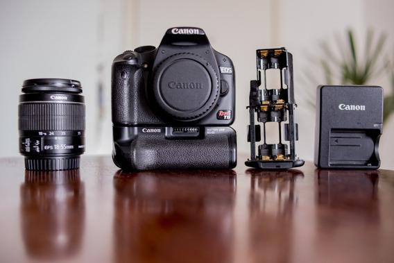 Câmera Canon T1i + Lente 18-55 + Acessórios