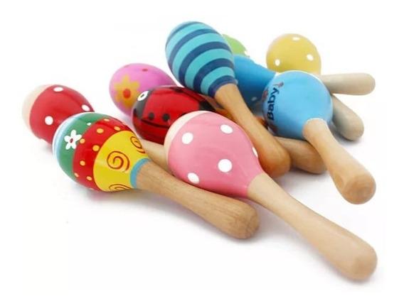 1 Maraca Instrumento Musical, Chocalho Bebê Montessori