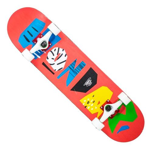 Imagem 1 de 5 de Skate Montado Hondar Iniciante Rosa