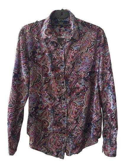 Camisa De Mujer 100% Rayón Estampado Búlgaro Kevingston