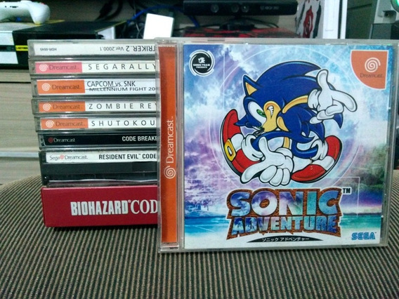 Sonic Adventure 1 Dreamcast Seminovo Japones