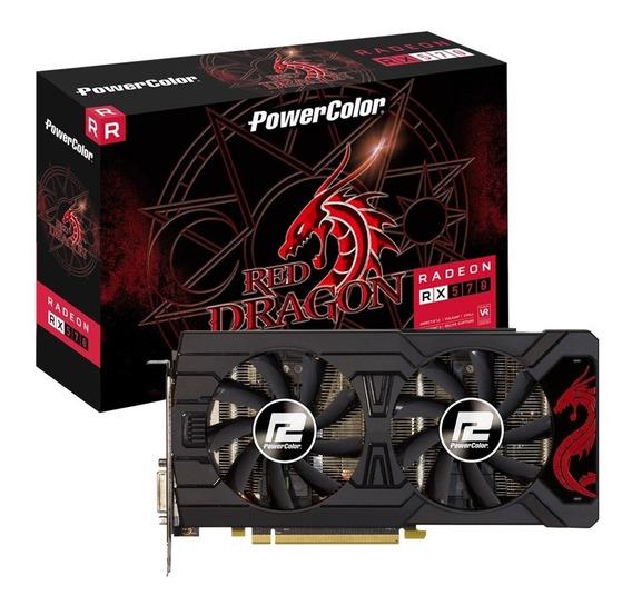 Placa De Vídeo Powercolor Amd Radeon Rx570 4gb Gddr5 C/ Nf