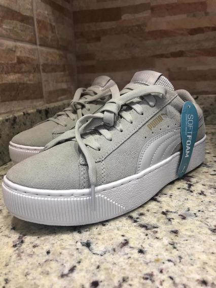 Puma Suede Platform Gray