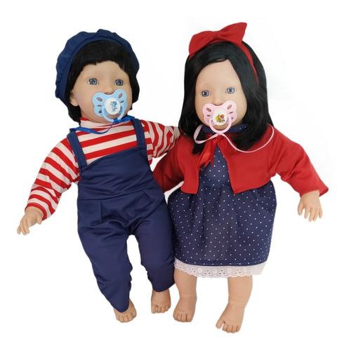 2 Bebês Reborn Verdade Realista Casal Menino E Menina