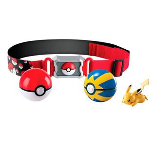 Conjunto De Ação - Pokémon - Cinto Porta Pokébolas - Pikachu