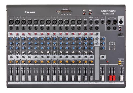 Mesa De Som Da Linha Millenium M Ll Audio Mx1602d 16 Canais