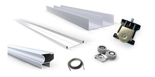 Kit Frente Integral Placard 3 M Aluminio Classic Grupo Euro