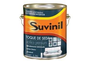 Pintura Suvinil 3.6 Lts Blanco Toque De Seda Acrílico Satin