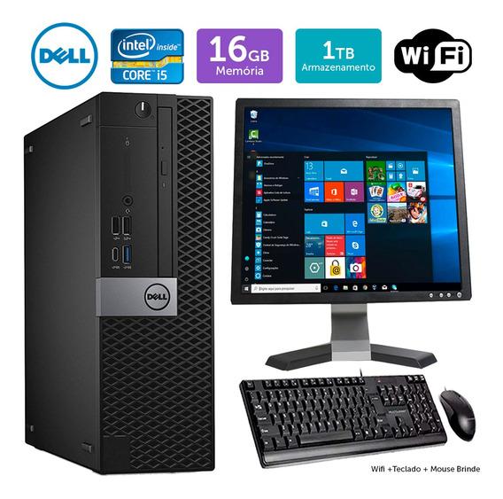 Cpu Usado Dell Optiplex 7050sff I5 16gb 1tb Mon17q Brinde