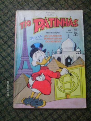 Tio Patinhas N. 315 Ed. Abril Manuseado Leia O Anuncio
