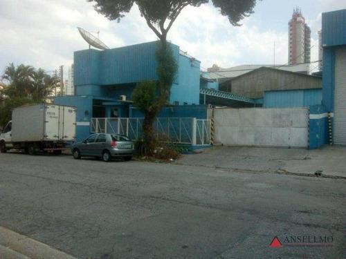 Imagem 1 de 12 de Galpão Para Alugar, 610 M² Por R$ 8.900,00/mês - Campestre - Santo André/sp - Ga0424