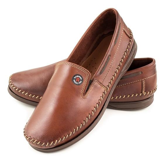 Sapatilha Sapato Mocassim Masculino Couro Legitimo Dockside