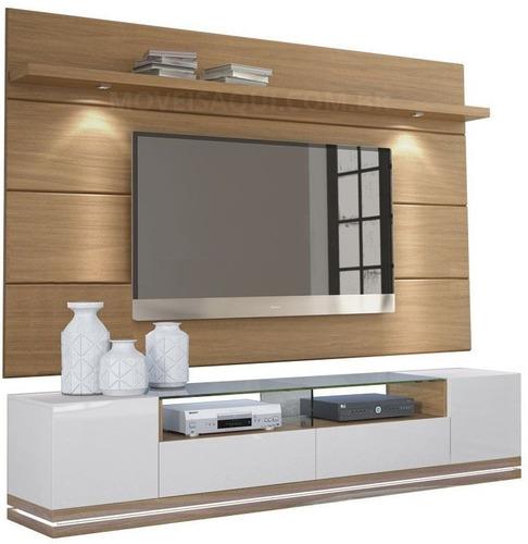 Mueble Tv Con Panel Oculta Cable  Ref: Livo 4.0 Lacado