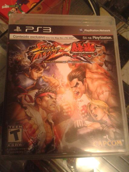 Street Fighter X Tekken Playstation 3 Mídia Física Semi Novo