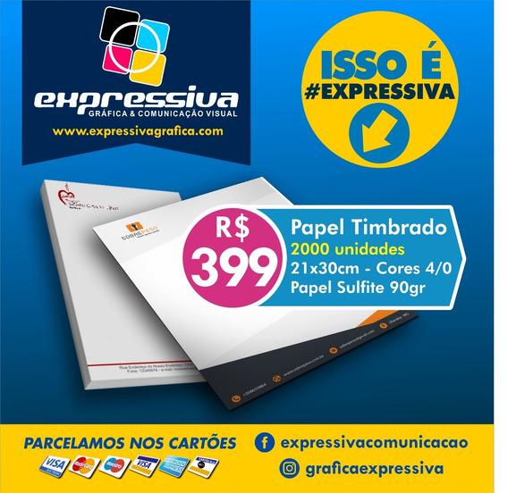 Papel Timbrado 2000 Unid - A4 - Colorida - 4/0