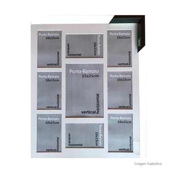 Porta Retrato 8 Janelas 10x15cm E 1 Janela 15x21cm Windows Preto Infinity Infinity