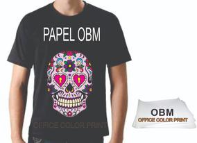 Papel Obm A4 Original Para Camisetas Escuras - 10 Folhas