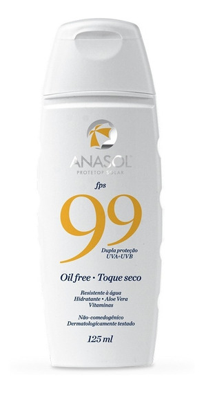 Anasol Protetor Solar Fps 99 Oil Free 125ml