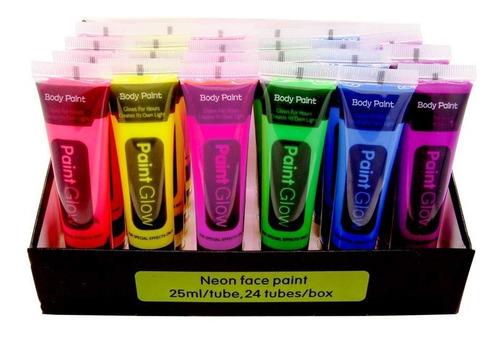 Imagen 1 de 6 de 6 Tubos Pintura Neón Colores Variados Glow Brilla Oscuridad