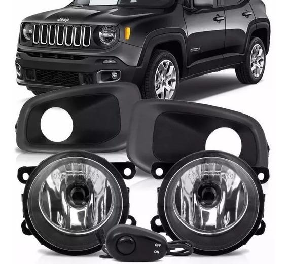 Kit Farol De Milha Jeep Renegade 2015/16/17 Bt Univ. Fulll