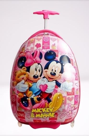 Mala Mochila Rígida Infantil De Viagem Minnie & Mickey