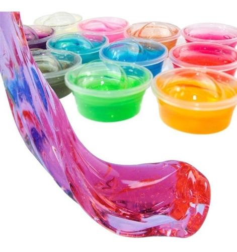 Plastilina Slime Para Jugar, Cristal Gel 24 Unidades