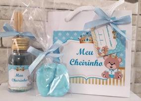 30 Kit Aroma + Sacola + Pé Lembrancinhas Maternidade