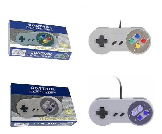 Controle Super Nintendo Snes Usb A Pronta Entrega