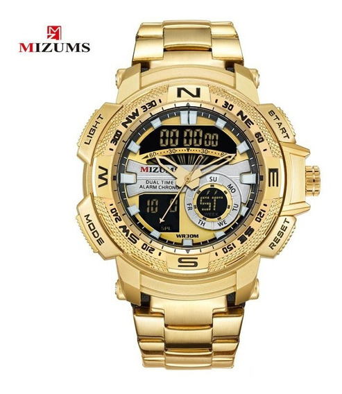 Relógio Masculino Mizums Dourado