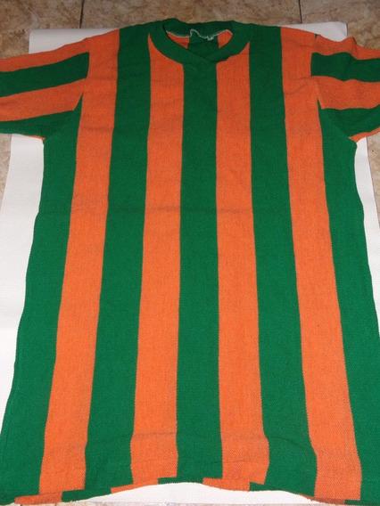 Antigua Camiseta De Pique Rayas Verde Y Naranja Años 70- T 38 Unica