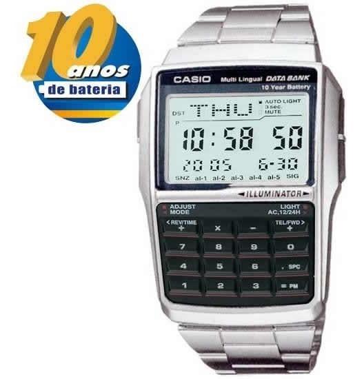 Relogio Casio Calculadora Dbc-32 Databank 10 Anos De Bateria
