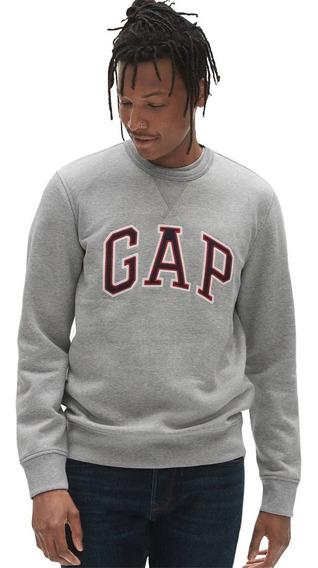 Sudadera Hombre Cuello Redondo Logo Estampado Suave Gap