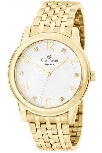Relógio Feminino Champion Elegance+colar Brincos Cn26779w