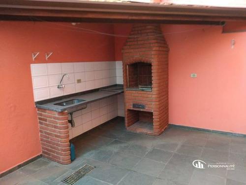 Imagem 1 de 10 de Sobrado Com 3 Dormitórios À Venda, 178 M² Por R$ 655.000 - Vila Scarpelli - Santo André/sp - So0285