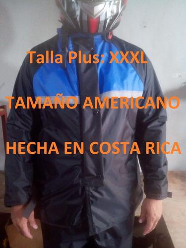 Capa Kamelia Azul Talla Plus Xxxl Impermeabl Cr Scooter Moto