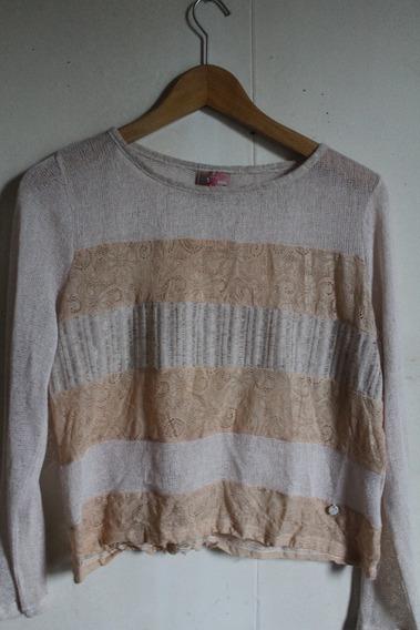 Sweater De Hilo Mujer, Talla M