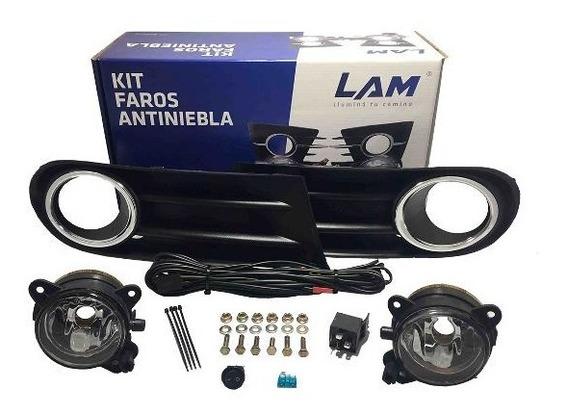 Kit Faros Auxiliares Antiniebla P/ Volkswagen Gol Trend/save