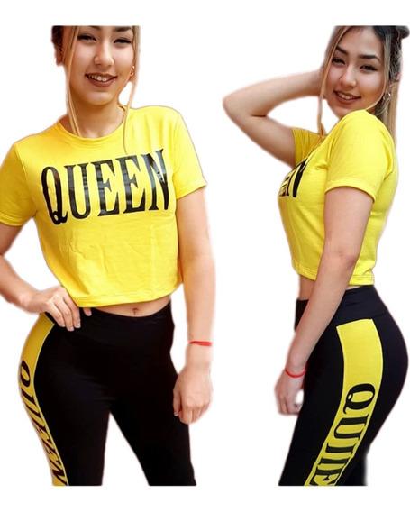 Conjunto Pantalon Remera Mujer Deportivo Streetwear Outfit Rustico Queen Moda Vintage Reggaeton Hasta Xl