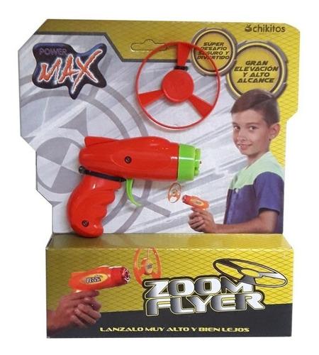 Imagen 1 de 2 de Zoom Flyer Pistola Lanza Disco Volador (7633)