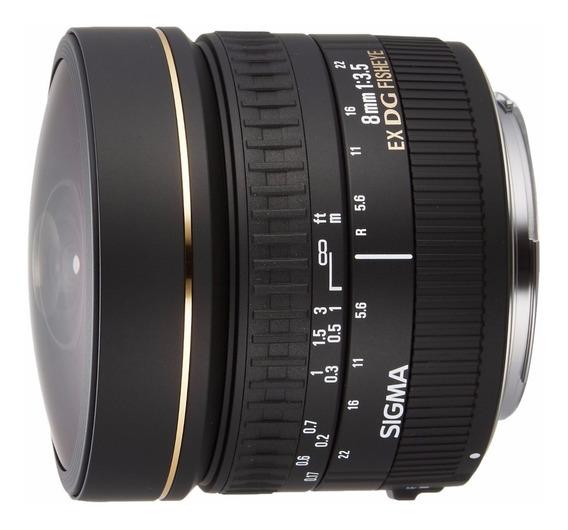 Lente Ojo De Pez Full Frame Sigma 8mm F/3.5 Ex Dg Fisheye