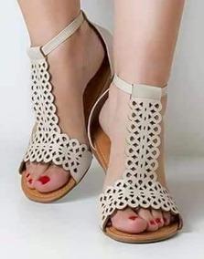 95f5e1d30 Sandalia Gladiadora Cortada A Laser - Sapatos no Mercado Livre Brasil