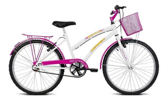 Bicicleta Aro 24 Breeze Branco E Pink Verden Bikes