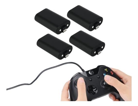 4 Bateria E 2 Cabo Carregador Controle Xbox One Charge Kit