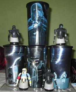 Lote De 4 Vasos Cinemex. Star Wars, Rogue One