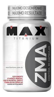 Zma 90 Capsulas + Força E Aumento Testosterona Max Titanium