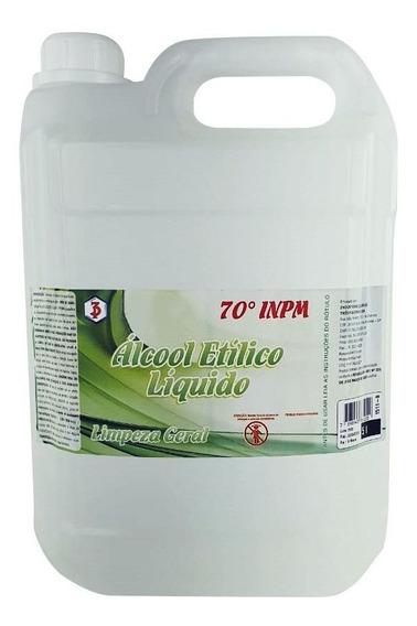 Álcool Liquido 70% Antisséptico Proteção E Limpeza - 5 Lts