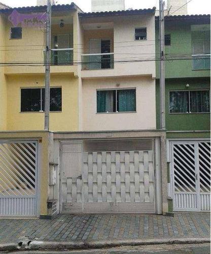 Sobrado Com 2 Dormitórios À Venda, 111 M² Por R$ 420.000,00 - Jardim Santo Antônio - Santo André/sp - So0489